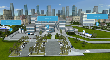 Linde Healthcare virtual world